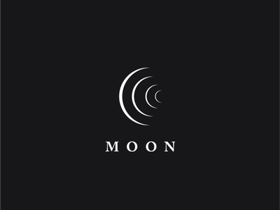 Logo a day 072 - Moon everyday minimal logo inspiration icon inspiration icon design icon a day logo a day space design moon space