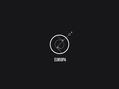 Logo a day 076 - Europa eruopa space moons logodesign logo icon inspiration icon design