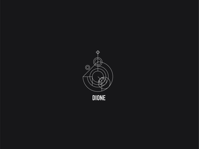 Logo a day 082 - Dione thin line thin line icons minimal moon moons space everyday project logo a day logo icon inspiration icon design icon