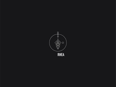 Logo a day 083 - Rhea moon space minimal logo design logo icon icon design