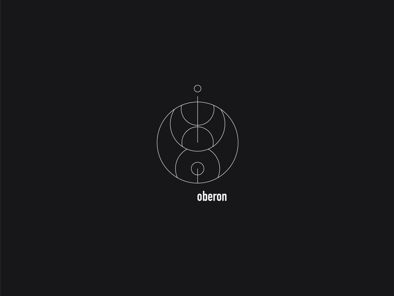 Logo a day 088 - Oberon 22 shapes everyday project everyday ui icons ui moon space minimal logo inspiration logo icon design icon