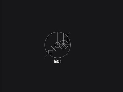 Logo a day 090 - Triton moon minimal vector ui space icon logo logo design logo inspiration everyday logo a day
