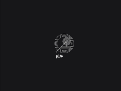 Logo a day 092 - Pluto everyday geometric exploration space logo a day everyday project ui minimal logo icon design icon dwarf planet