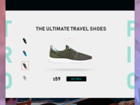 Tropic Shoes. Landing page