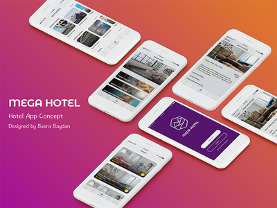 Mega Hotel - Hotel App Concept hotel reservation pricing otel holiday travel room booking