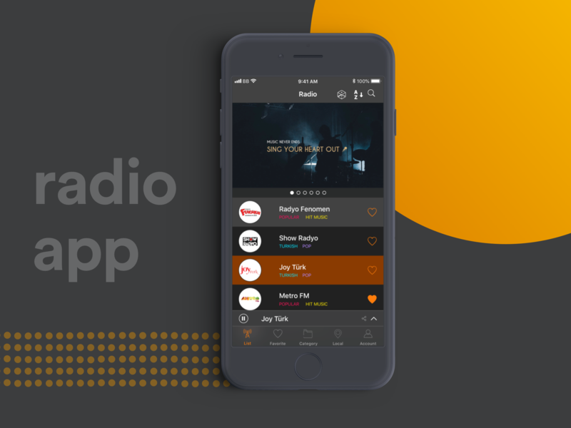 Radyo Burada Online Radio Home by Büşra Baydan on Dribbble