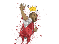 "Football Illustration | Thierry ""The King"" Henry"