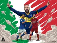Football Illustration | Daniele De Rossi