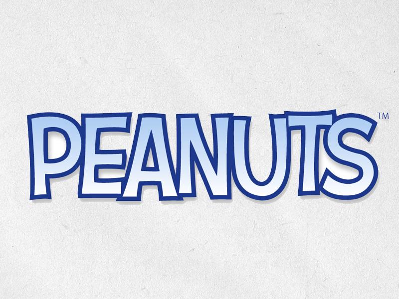peanuts logo by nate piekos dribbble