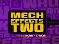 Mech Effects Two BB font