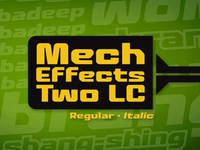 Mech Effects Two Lowercase BB font