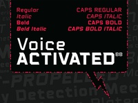 Voice Activated BB font