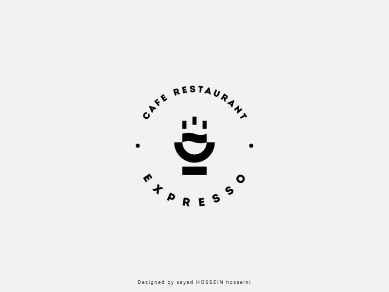 Logo 'Expresso' - Cafe Restaurant concept cafe restaurant cafe restaurant cafe logo app design minimal identity logo branding