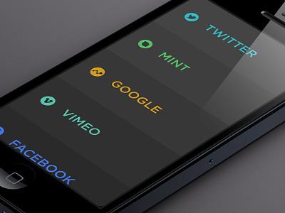 Cull iphone app analytics stats ui flat design