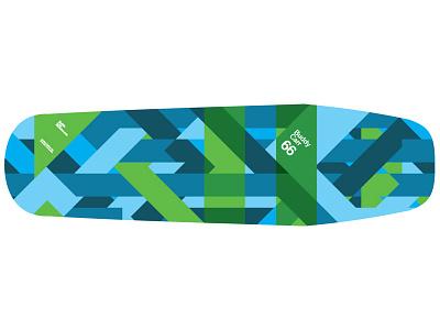 Buddy Carr 66 Camo skateboard deck board camo diagonal geometric