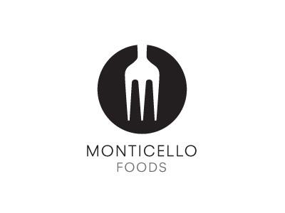 Monticello Icon logo food logotype fork