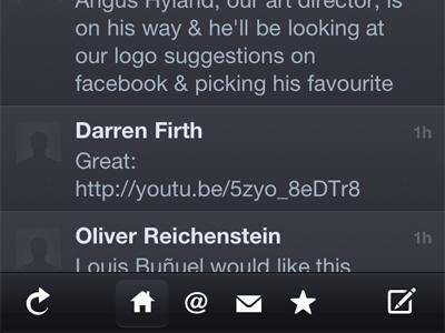 Twitterrific Bottom Bar twitterrific iphone app