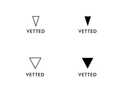 Vetted Logo logo logotype triangle golden ratio
