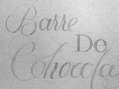 Barre de Chocolat typography script skateboard buddy carr