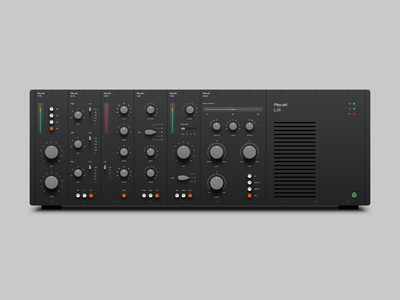 500 Series Audio Modules sliders knobs switches interface interface design user interface design ui design user interface ui