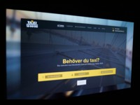 Landing Page Concept — Taxi Stockholm