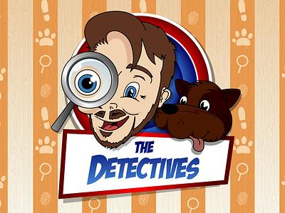 The Detectives cooperbility vector artwork illustration vector art design drawing cartoon brand logo magnify glass wallpaper series dog boy detectives