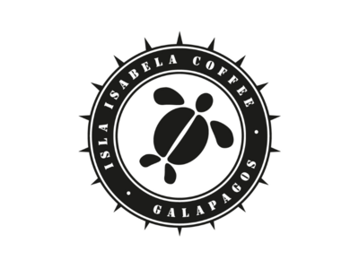Isla Isabella Coffee cooperbility brand logo type typography shapes turtles isabella galapagos coffee