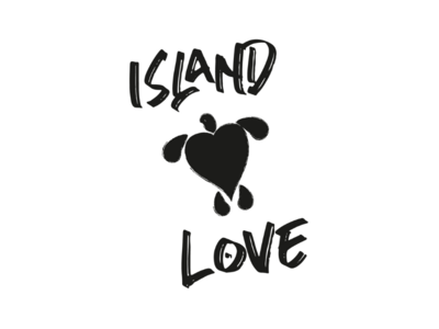 Island love cooperbility typography type brand logo romance heart island island love galapagos seaturtle turtles love