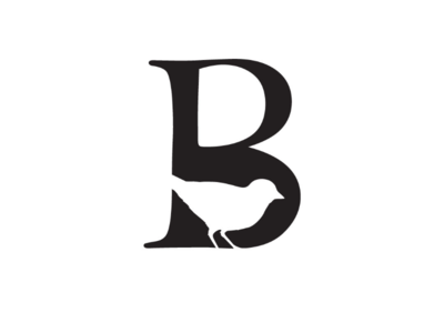B is for Bird cooperbility brand logo typography type charity classy elegant negative space b conservation wild wildlife bird