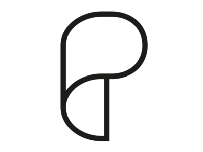 Paper P cooperbility wrap clear simple curve brand logo p paper