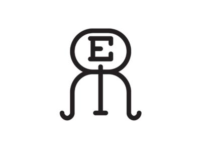 R.E.R cooperbility brand logo simple minimal curvy modern e r monogram rer