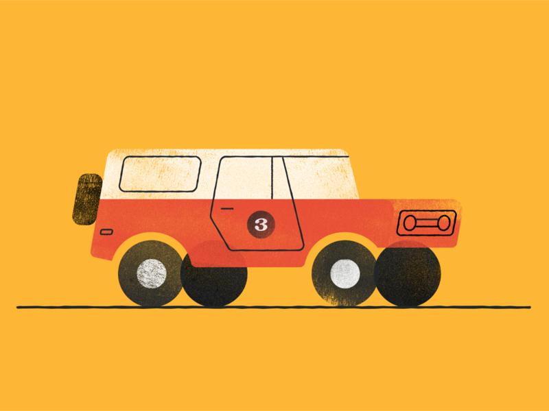 International Scout texture car illustration quarantine