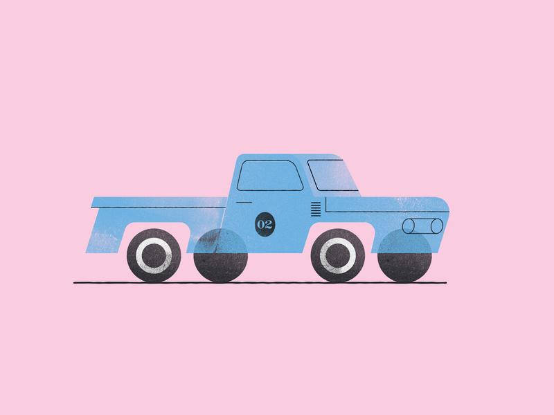 Truck texture illustration