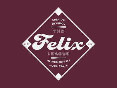 The Felix League tshirt league sport baseball
