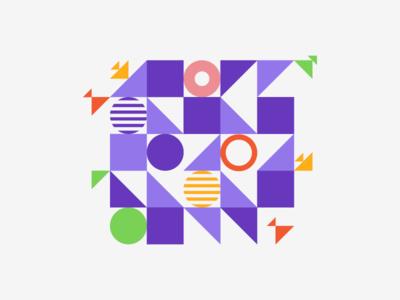 Shapes abstract circles squares triangles shapes