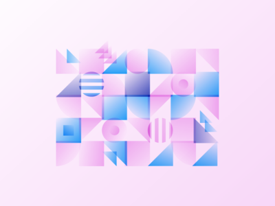 More shapes abstract pink exploration shapes gradient