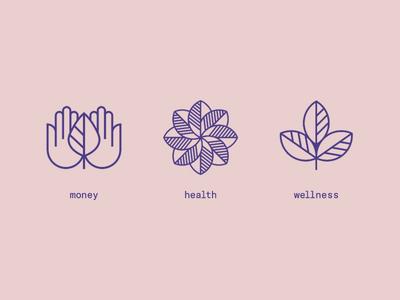 money health wellness icons health money wellness icons