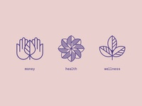 money health wellness icons