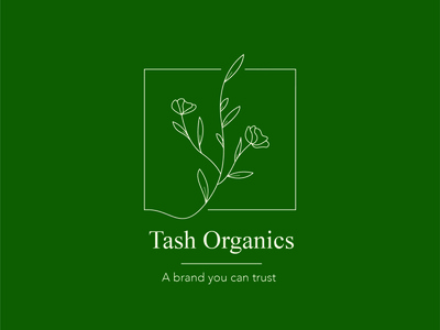 Logo Tash Organics nature illustration nature logo nature flower identity visual identity branding identity design identity illustration vector design branding logo design logodesign logotype logo
