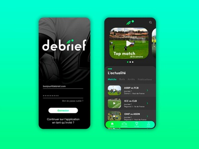 Application Debrief designer webapps webapplication webapp design webapp web design webdesign application design application ui application app icon ux ui design footballer football club football app football foot