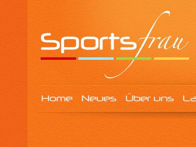 Logo for a Sports Shop webdesign redesign orange texture noise box-shadow logo navigation nav