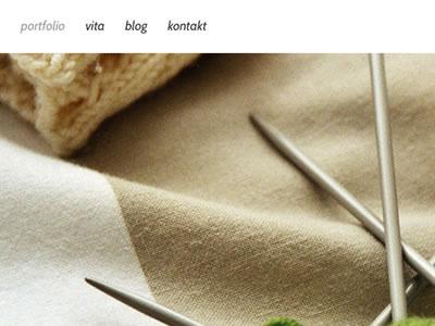 Portfolio Detail webdesign portfilio webfont photo navigation menu html5 css3 kirby cms