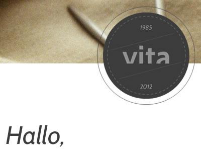 Vita - Header vita webdesign html5 css3 webfonts header headline portfolio kirby cms circle vintage
