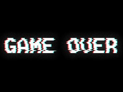 GAME OVER game art logo game photoshop digital design adobe