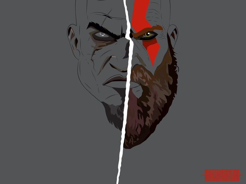 Kratos by Abeer Rizvi on Dribbble