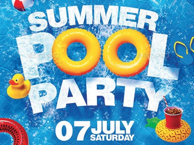 Summer Pool Party Flyer By Darkmonarch Dribbble Dribbble