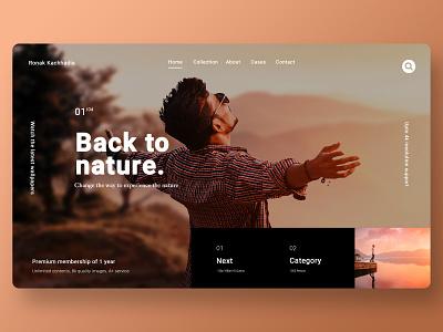 Modern website template modern web design website banner