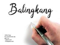 Balingkang - brush script font freebies