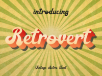 Retrovert - retro handlettering font