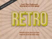 Retro Vintage text Style